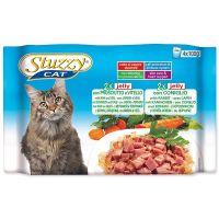 Kapsičky STUZZY Cat šunka s telecím + králík v želé - multipack (400g)