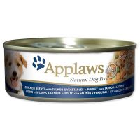 Konzerva APPLAWS Dog Chicken, Salmon & Rice 156 g ()