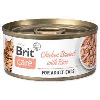 Konzerva BRIT Care Cat Chicken Breast with Rice 70g