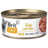 Konzerva BRIT Care Cat Turkey Paté with Ham 70g