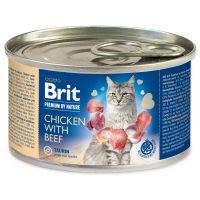 Konzerva BRIT Premium by Nature Chicken with Beef 200g