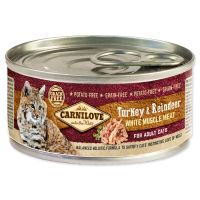 Konzerva CARNILOVE WMM Turkey & Reindeer for Adult Cats 100g