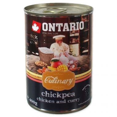 Konzerva ONTARIO Culinary Chickpea, Chicken and Curry (400g)