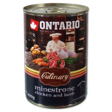 Konzerva ONTARIO Culinary Minestrone Chicken and Lamb (400g)