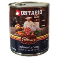 Konzerva ONTARIO Culinary Minestrone Chicken and Lamb (800g)