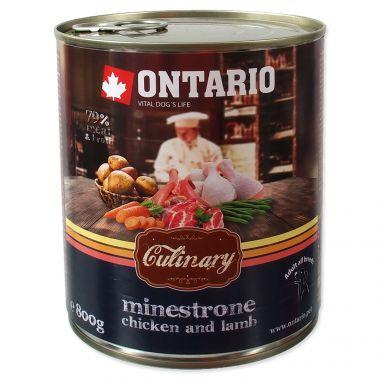 Konzerva ONTARIO Culinary Minestrone Chicken and Lamb (800g)