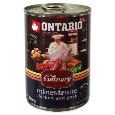 Konzerva ONTARIO Culinary Minestrone Chicken and Pork (400g)