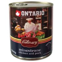 Konzerva ONTARIO Culinary Minestrone Chicken and Pork (800g)
