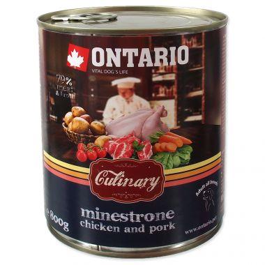 Konzerva ONTARIO Culinary Minestrone Chicken and Pork (800g)