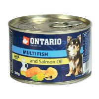 Konzerva ONTARIO mini multi fish and salmon oil (200g)