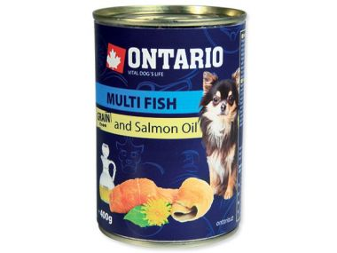 Konzerva ONTARIO mini multi fish and salmon oil (400g)