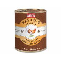 Konzerva RINTI Nature's Balance kuře + hnědá rýže + vejce (800g)