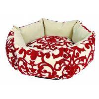 Kulatý pelíšek Jules 45 cm béžovo-červený