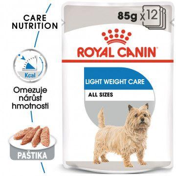 ROYAL CANIN Light Weight Care Dog Loaf dietní kapsička s paštikou pro psy 12x
