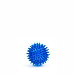 Míč s bodlinami - modrý, odolná (gumová) hračka z termoplastické pryže
