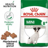 Royal Canin Mini Adult 8+ granule pro stárnoucí malé psy 0,8kg