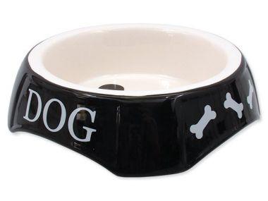 Miska DOG FANTASY potisk Dog černá (1ks) 18,5 cm