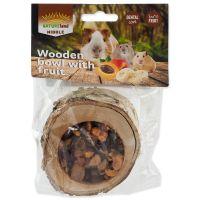Miska NATURE LAND Nibble plněná bylinkami dřevěná (120g)