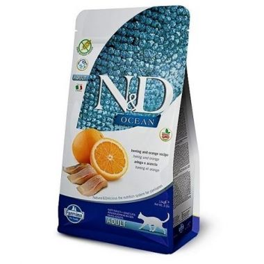 N&D OCEAN CAT Adult Herring & Orange 1,5kg