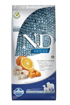 N&D OCEAN DOG Adult M/L Codfish&Pumpkin & Orange 12kg
