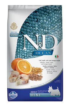 N&D OCEAN DOG LG Adult Mini Codfish & Orange 2,5kg