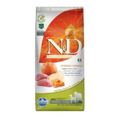 N&D Pumpkin DOG Adult M/L Boar & Apple 2,5kg