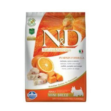 N&D Pumpkin DOG Adult Mini Codfish & Orange 7kg