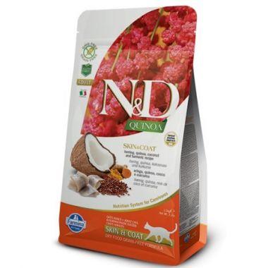 N&D Quinoa CAT Skin & Coat Herring & Coconut 1,5kg