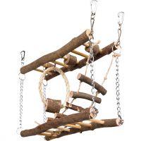 Natural Living dřevěný most dvojitý pro myši, křečky 27x17x7