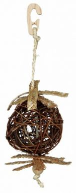 Natural Living-proutěný míček se slaměnou ozdobou 10/22cm