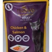 Nuevo kočka adult kuře a losos kapsa 85g