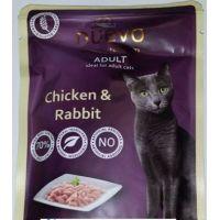 Nuevo kočka kapsa Adult kuře a králík 85g
