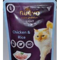 Nuevo kočka Light kuřecí s rýží kapsa 85g