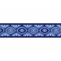 Obojek 40 - 60 cm - Snake Eyes Blue - s barevnou sponou
