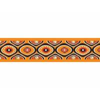 Obojek 40 - 60 cm - Snake Eyes Orange - s barevnou sponou