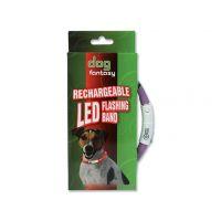 Obojek DOG FANTASY LED světelný fialový 70 cm (1ks)