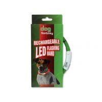 Obojek DOG FANTASY LED světelný zelený 45 cm (1ks)