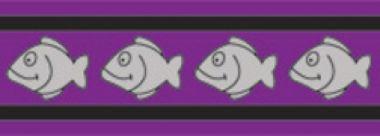 Obojek pro kočky reflexní 20 - 32 cm - fialový