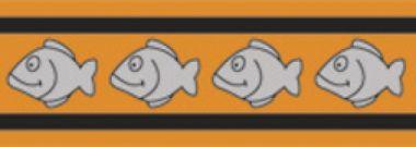 Obojek pro kočky reflexní 20 - 32 cm - oranžový