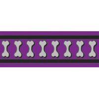 Obojek RD 12 mm x 20-32 cm - Bones Rfx - Fialová