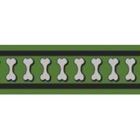 Obojek RD 12 mm x 20-32 cm - Bones Rfx - Zelená