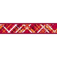 Obojek RD 12 mm x 20-32 cm - Flanno Red