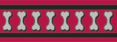Obojek RD 20 mm x 30-47 cm - Bones Rfx - Červená
