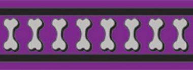 Obojek RD 20 mm x 30-47 cm - Bones Rfx - Fialová