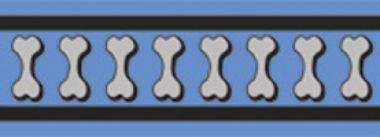 Obojek RD 20 mm x 30-47 cm - Bones Rfx- Stř. Modrá
