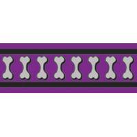 Obojek RD 25 mm x 41-63 cm - Bones Rfx - Fialová