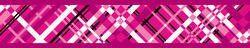 Obojek RD 25 mm x 41-63 cm - Flanno Hot Pink