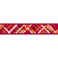 Obojek RD 25 mm x 41-63 cm - Flanno Red