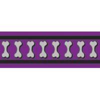 Obojek RD 40 mm x 37-55 cm - Bones Rfx - Fialová