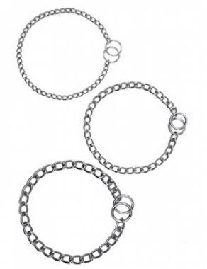 Obojek řetěz stahovací chrom 50 cm